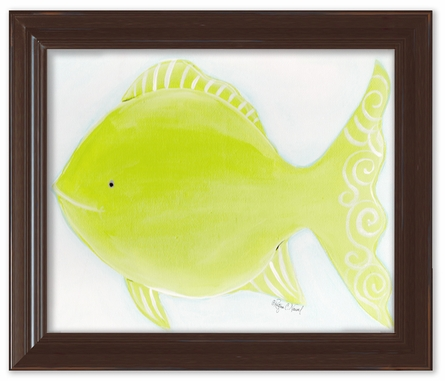 Flicka the Fish Framed Canvas Reproduction