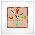 Flip Flop Wall Clock with Wide Frame