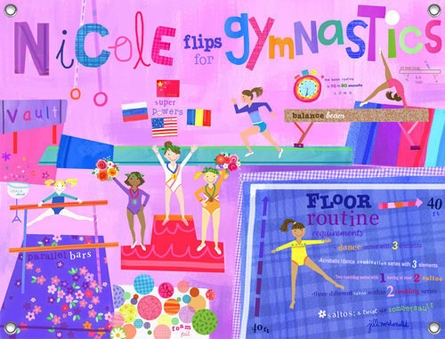 Flipping For Gymnastics Canvas Wall Mural