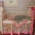 Flirty Flowers Pink Crib Bedding
