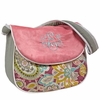 Flirty Flowers Pink Messenger Diaper Bag