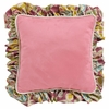 Flirty Flowers Pink Throw Pillow - Square