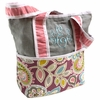 Flirty Flowers Pink Tote Diaper Bag