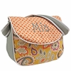 Flirty Flowers Yellow Messenger Diaper Bag