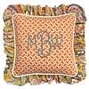 Flirty Flowers Yellow Throw Pillow - Square