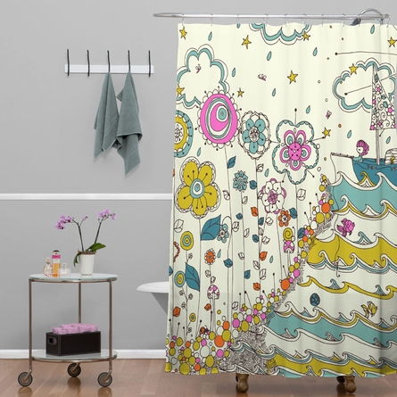 Floating to the Edge Shower Curtain