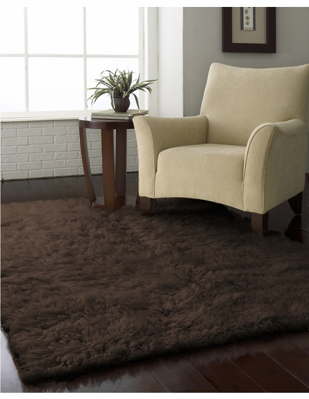Flokati Plus Rug in Milk Chocolate