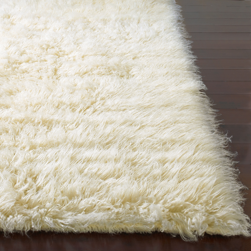 Flokati Plus Rug In Natural Rosenberryrooms Com