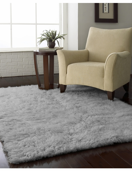 Flokati Plus Rug in Natural Grey