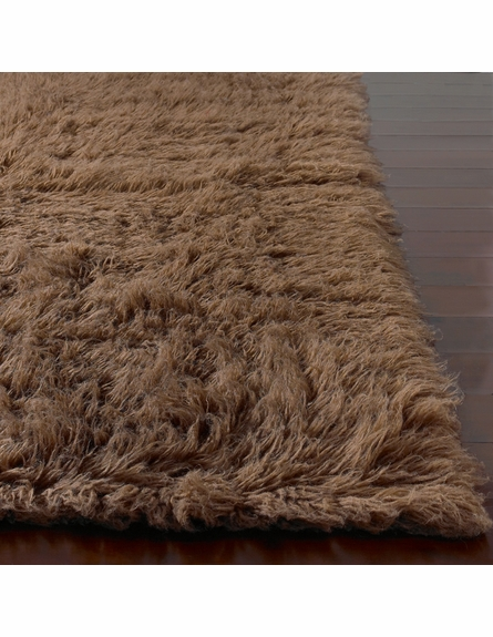 Flokati Standard Rug in Milk Chocolate