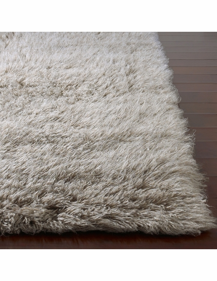 Flokati Standard Rug in Natural Grey