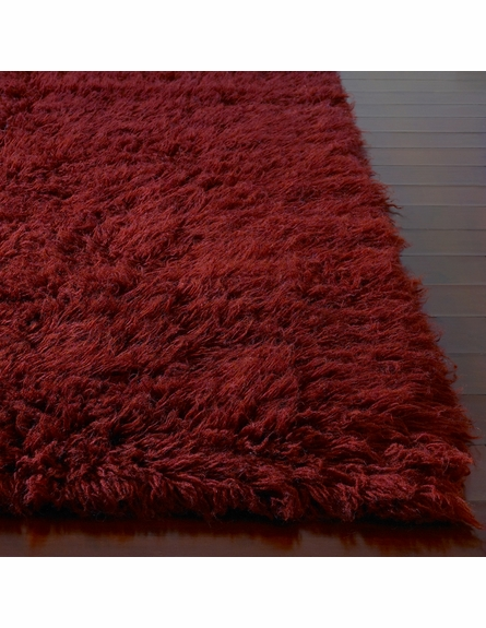 Flokati Standard Rug in Ruby Red