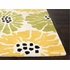 Flora Rug in White and Bright Yellow