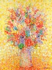 Floral Bouquet Yellow Canvas Wall Art