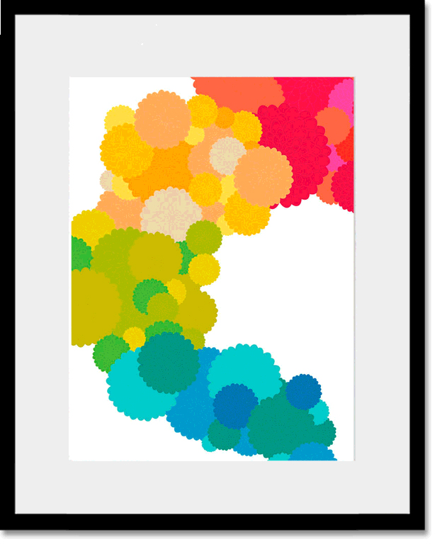 Floral Cluster Personalized Framed Art Print By Oopsy Daisy