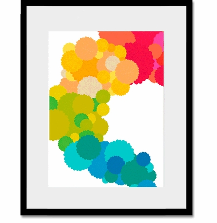 Floral Cluster Personalized Framed Art Print