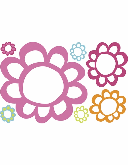 Floral Dry Erase Wall Decals