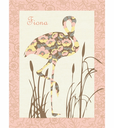Floral Flamingo Canvas Wall Art