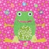 Floral Frog Canvas Wall Art