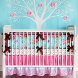 Floral Girls Crib Bedding