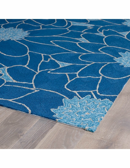 Floral Indoor/Outdoor Rug in Blue