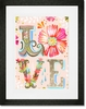 Floral LOVE Stacked Framed Art Print