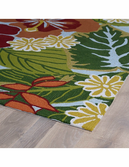 Floral Matira Rug in Blue and Green