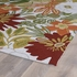 Floral Matira Rug in Ivory and Green