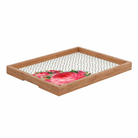 Floral Polka Dots Rectangle Tray