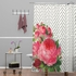 Floral Polka Dots Shower Curtain