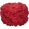 Floral Pouf in Red