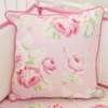 Floral Shabby Chic Square Throw Pillow