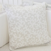 Floral Vintage Taupe Vine Square Throw Pillow