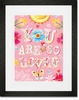 Floral You Are So Loved Framed Art Print