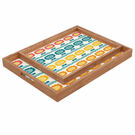 Flores Del Tortuguero Rectangle Tray