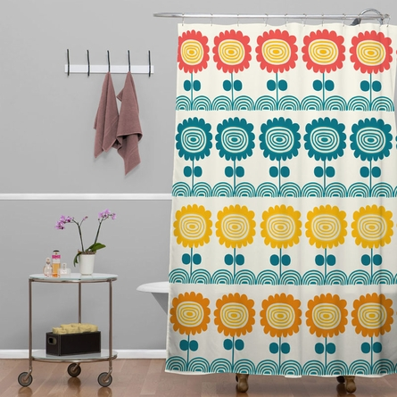 Flores Del Tortuguero Shower Curtain