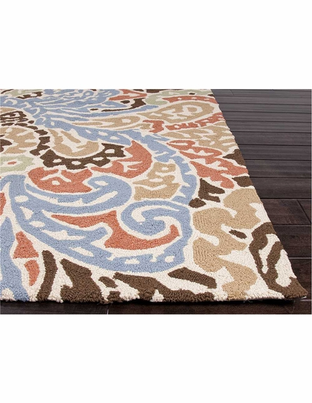 Flores Indoor/Outdoor Rug in Blue and Red