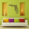 Florida Map Wooden Wall Art