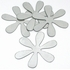 Flower 4-Pack Peel & Stick Wall Mirror Appliques