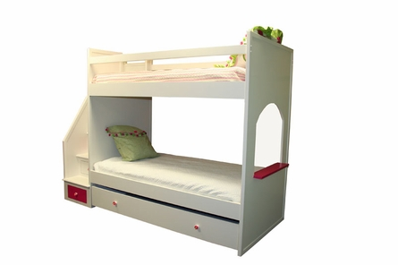 Flower Fantasy Twin Bunk Bed