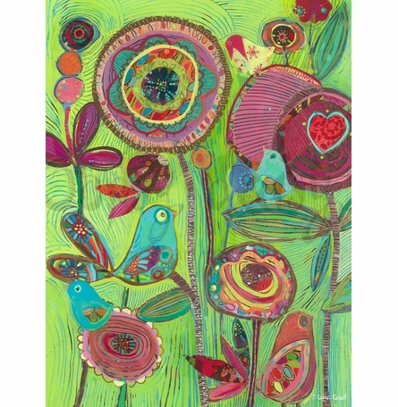 Flower Flock Canvas Wall Art