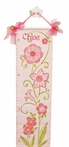 Flower Hand Painted Canvas Growth Chart