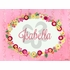 Flower Name Plaque Canvas Reproduction