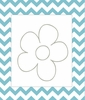 Flower on Chevron Canvas Reproduction