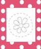 Flower on Dots Canvas Reproduction