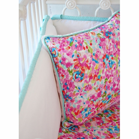 Flower Pond Crib Bedding Set