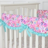 Flower Pond Crib Rail Cover