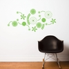 Flower Power in Green Wall Decal