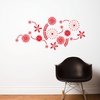 Flower Power in Red Wall Decal