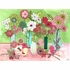 Flower Vase Birdies Canvas Wall Art